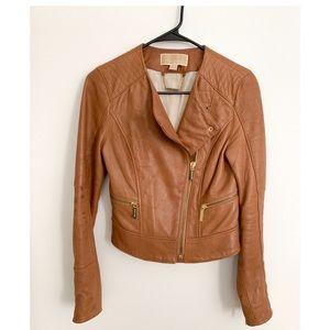 Authentic Michael Kors Lambskin Motto Jacket